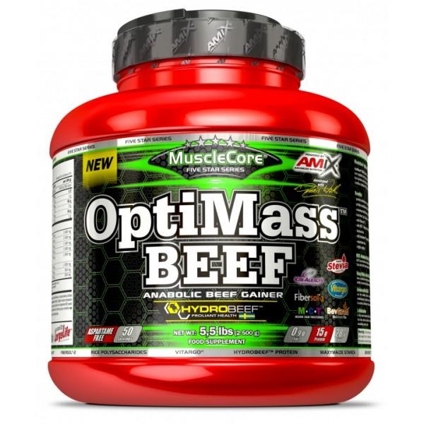 Πρωτεΐνη MuscleCore OptiMass Beef 2500g Amix Διπλή γλυκιά Σοκολάτα