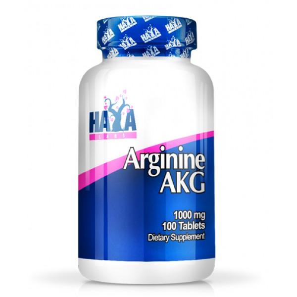 Αργινίνη Arginine AKG 1000mg 100 ταμπλέτες HayaLabs