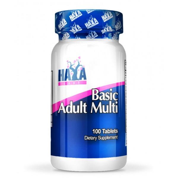 Πολυβιταμίνη Basic Adult Multivitamin 100 ταμπλέτες HayaLabs