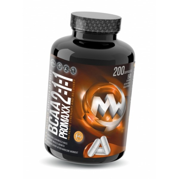 Αμινοξέα Διακλαδισμένης Αλυσίδας BCAA ProMaxx 2:1:1 , 200 κάψουλες MAXXWIN Nutrition