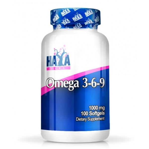 Omega 3-6-9 Λιπαρά οξέα Haya Labs 100 Μαλακά Δισκία