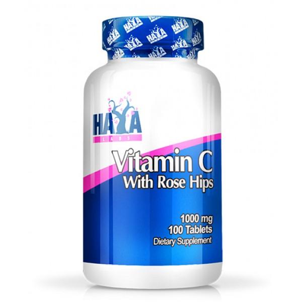 Βιταμίνη C vitamin C with Rose Hips 1000mg 100tabs HayaLabs